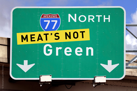 PETA Wants the Greening of Green to Include Changing City's Name to 'Meat's Not Green' for Earth Day